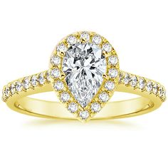 18K Yellow Gold Fancy Diamond Halo Ring (1/3 ct. tw.) from Brilliant Earth