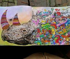 Rhino From Animorphia Coloring BooksColouringRhinosColor