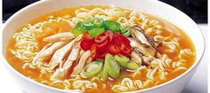 Koreans eat most ramen per person in the world. This board describes the typical ramen of Korea I've ever eaten that released from 1990 to Unique Recipes, Asian Recipes, Ethnic Recipes, Kimchi, Mie Noodles, Real Ramen, Ramen Noodle Recipes, Laksa, Healthy Dishes