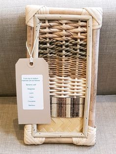 Lovely sampler for woven #wicker coffin materials. Which do you like?