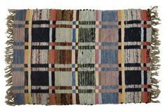 "One Kings Lane - Rustic but Refined - Swedish Rag Rug, 3'4"" x 2'2"""