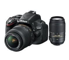 Nikon D5100 twin kit with Nikon 18-55mm VR and 55-300mm VR Lenses Digital SLR Camera