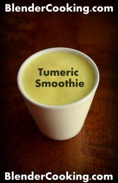 Tumeric Smoothie @ blendercooking.com