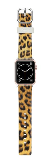 Casetify Apple Watch Band (38mm) Casetify Band - Leopard pattern by Benjiman Croll #Casetify