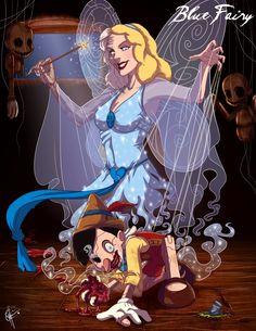 Twisted Disney - Art by Jeffery Thomas - Pinocchio