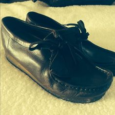 Clark Wallabees Size 8.5. Very comfortable. Brown leather. Worn only a handful of times. Clarks Shoes Mules & Clogs