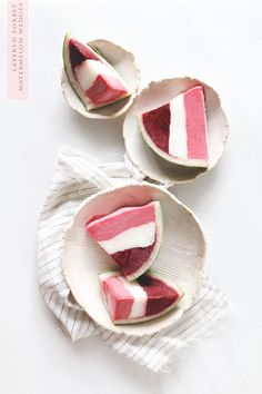 Red, White, and Blueberry Watermelon Sorbet Wedges