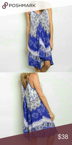 Purple Midi Boho dress Purple Midi Boho dress.  Adjustable spaghetti straps. Draping front.  Boutique so price is firm unless bundled. threadzwear  Dresses Midi