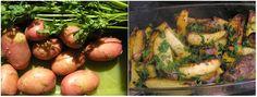 Tepsiben sült petrezselymes krumpli - Így főz anyátok Sprouts, Vegetables, Food, Essen, Vegetable Recipes, Meals, Yemek, Veggies, Eten