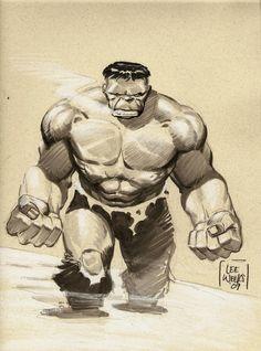 #Hulk #Fan #Art. (Hulk) By: Lee Weeks. (THE * 5 * STÅR * ÅWARD * OF: * AW YEAH, IT'S MAJOR ÅWESOMENESS!!!™)[THANK Ü 4 PINNING!!!<·><]<©>ÅÅÅ+(OB4E)