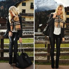 what's not to love?  Burberry, Prada, leather pants!
