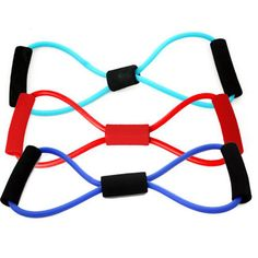 Sports Fitness Yoga Resistance Band 8 Shape Pull Rope Tube Equipment