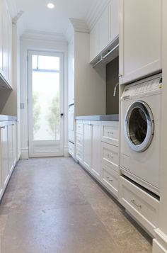Laundry: Showing Washer and Dryer built into the joinery