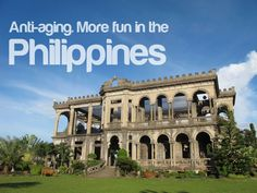 anti-aging more fun in the philippines (Lacson Ruins in Silay, Negros) Philippines Tourism, Philippines Culture, Places Around The World, Around The Worlds, Tourism Department, Best Apps, Celebrity Pictures, More Fun, Anti Aging