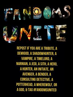 I am a tribute, demigod, shadowhunter, timelords assistant,  a narnian, a hero, an avenger, a bender, a consulting detectives assistant, and a god!!!!!