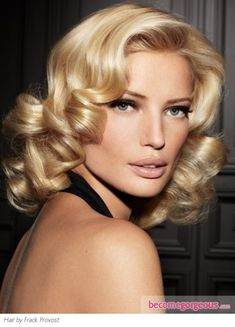 Medium Retro Curls Hair Style. I wish I could get my hair to do this!