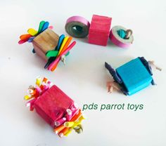 Foots toys are essential for parrots. Different shapes and size help with motor…