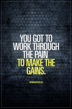 You got to work through the pain to make the gains. #nopainnogain #bestrong #trainharder #gains Enjoy this gym quote!