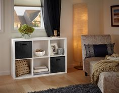 We love cute and functional decoration in the family room! Take a look at ClosetMaid's decorative 6 cube organizer and spruce up your space! Cube Bookcase, Cube Shelves, Cube Storage, Bedside Storage, Diy Bedroom Decor, Living Room Decor, Home Decor, Bedroom Ideas, Bedroom Inspo