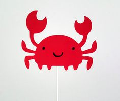 Crab Cake Topper, Crab Birthday, Crab Party, Under the Sea Cake Topper by CraftyCue on Etsy