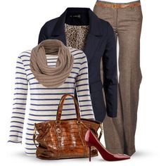 do not like animal print or scarves, and i perfer wider heels, but otherwise the perfect outfit