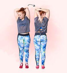 Kolme teholiikettä, joilla selätät niskajumit ja jäykän rangan | Me Naiset Pilates, Health Fitness, Workout, Pants, Sport, Relax, Fashion, Pop Pilates, Trouser Pants