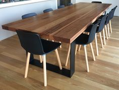 3 metre Messmate 6cm thick dining table