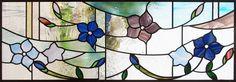 桔梗の花のステンドグラス 完成