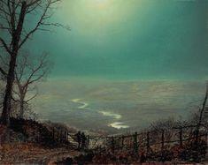 Moonlight Wharfedale, ca 1860's, John Atkinson Grimshaw.