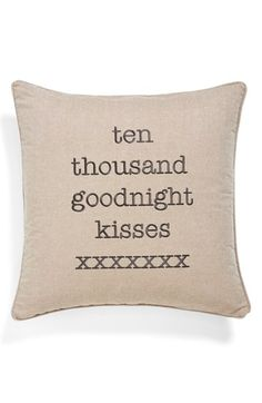 Ten thousand kisses goodnight