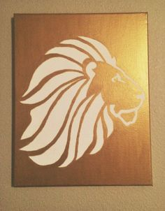 ADPi Lion Canvas by GoldPeonie on Etsy