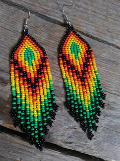 Diy bracelets beads beadwork native american 43 Ideas Best Picture For DIY Bracelet adjustable Beaded Earrings Native, Beaded Earrings Patterns, Fringe Earrings, Beading Patterns, Beaded Bracelets, Diy Bracelet, Beading Tutorials, Seed Bead Jewelry, Seed Bead Earrings