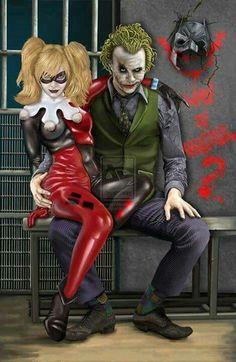 Harley Quinn and Joker <3