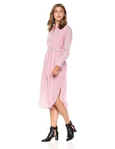 C/MEO COLLECTIVE Women's Petition Long Sleeve Button Down Shirt Dress Button Down Shirt Dress, Program Design, Button Downs, Designer Dresses, Amazon, Elegant, Long Sleeve, Stuff To Buy, Shopping