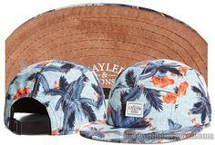 Girls Boy Fashion Caps CAYLER&SONS Snapbacks Hats 5 Panel Cap Coconut Tree