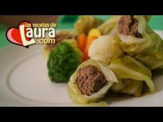 Rollos de col rellenos de carne molida de res Las Recetas de Laura Muller