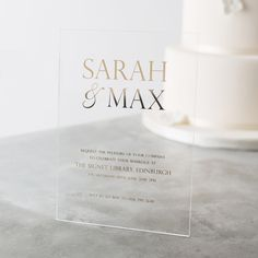 Personalised Acrylic Foiled Wedding Invitations