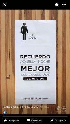 Poster baño mujeres