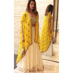60 GM Georgette Party Wear Lehenga Choli In Cream and Yellow Colour Buy Best price latest designer Georgette Party Wear Lehenga Choli In Cream and Yellow Colour online in india Cash on Delivery Available! Indian Gowns Dresses, Indian Fashion Dresses, Indian Designer Outfits, Dresses Dresses, Indian Dresses For Girls, Dresses Online, New Designer Dresses, Indian Fashion Trends, Long Dresses