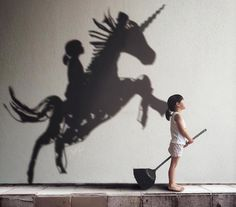 Mom uses larger than life shadows to create a fantastical alternate reality for…