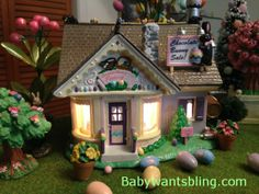 Dept 56 Chocolate Bunny Factory in Easter Village