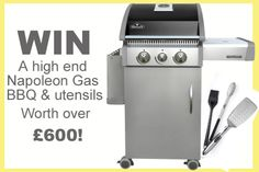 Win a Napoleon Grill and utensils worth over Bbq Accessories, Gas Bbq, Summer Bbq, Napoleon, Utensils, Clarks, Giveaways, Grilling, Blog