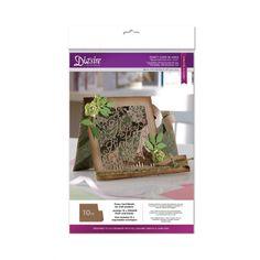 Diesire Crafters Companion Diesire Die Cut Fancy Card Blanks - Square Side Step (Kraft) - Diesire from Mountain Ash Crafts UK