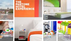 """Pantone Hotel Bruxelles: The PANTONE HOTELTM invites you to experience the city of Brussels through a lens of color and a spectrum of comforts. From the moment you arrive, our """"hotel of colors"""" will awaken your senses to an Pantone Hotel, Pantone Universe, Destinations, Hotel Concept, Boutique Design, Pantone Color, Best Hotels, Cool Places To Visit, Luxury Bedding"""