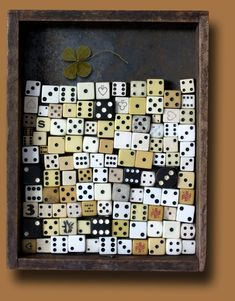 Wonder what this mixed media piece would look like with modern plastic dice. I'm building up quite a collection of those.