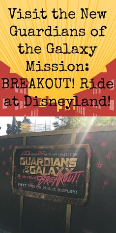 Guardians of the Galaxy Mission: BREAKOUT! is just one part of the fun coming to Disneyland for the Summer of Heroes. Get your tickets today! Get Away Today, Disneyland Vacation, Public Display, Disney Food, Guardians Of The Galaxy, Family Life, First Time, Geek, Voyage