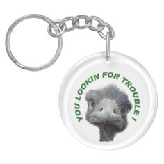 Ostrich trouble key chain