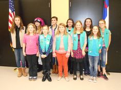 Girl Scout Troop #323 recently had a lot to celebrate! The troop welcomed three new members, bridged four girls from Juniors to Cadettes, and had eight girls celebrating their Bronze Award achievements!   How does your troop celebrate great achievements like these?