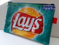 Pencil case UPCYCLED from Lays potato chip wrapper by trashbaggs, $15.00