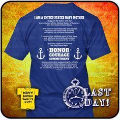 #NavyMom -  Navy Mother's Creed Shirt. #NavyMomShirts  Bookmark this Link for future Shirts & Hoodies: NavyMomShirts.com